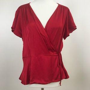 Zara Woman | Red Wrap Blouse